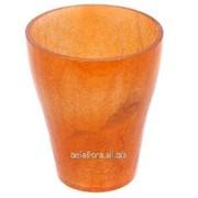 Горшок стеклянный Орхидея оранжевый 50.017.14 фото