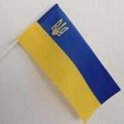 Флажки Украины полиэстер 12см*24см, Дарницкий шелковый комбинат фото