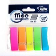 Стикер-закладка, 5 цвета по 25 пластиковых листиков, 12 х 44 мм, forpus FO42028 фото
