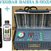 Комплект INJ-8B Установка для очистки и проверки форсунок + GX-100C Набор для промывки инжекторов фото