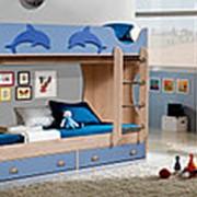Кровать двухъярусная Артеммебель Дельфин СН-108.01 фото