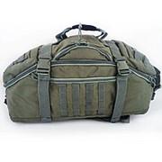 Сумка -баул - рюкзак 3 в 1 олива фото