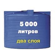 Емкость для машин и оборудование для земляных работ, питьевой воды и дизеля 5000 литров, синий, верт фото
