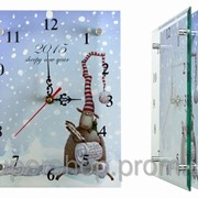Часы настенные стеклянные Новогодний барашек2 e02411 фото