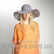 Легкая шляпа с большими полями черно-белая 36/30-4 фото