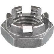 DIN 937 Гайка корончатая низкая до М48 - прорезная, под шплинт. фото
