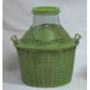 Бутыль-демиджон с широким горлышком и пластиковой крышкой, 10 литров фото