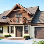 Двухэтажный мансардный каркасный дом Прованс фото