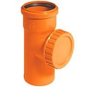 Ревизия ПВХ из поливинилхлорида канализационная водопроводная фото