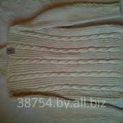 Мужской свитер тяжелый трикотаж 100% хлопок с индиго Косс-М 01 фото