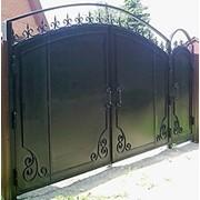 Изготовление ворот, оградок, калиток из металла фото