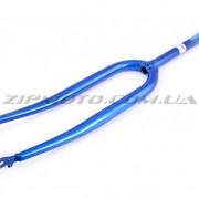 Вилка велосипедная жесткая 28 YAT синяя фото