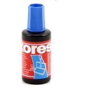 Штемпельная краска KORES синяя 27 мл. фото