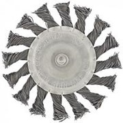 Matrix Щетка для дрели, 75 мм, плоская со шпилькой, крученая металлическая проволока Matrix фото