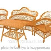 Плетеная мебель из лозыПрактичная фото