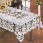 Скатерть ПВХ Crochet 137х180см белая (1/24) фото