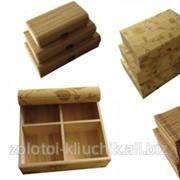 Коллекция сундучков из бамбука фото