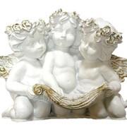 """Скульптура """"Ангелы трио с книгой"""" Л035 фото"""