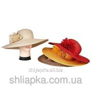 Шляпа из натуральной соломы с широкими полями 36/17-1 фото