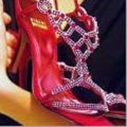 Инкрустация обуви кристаллами Swarovski (Сваровски ) фото