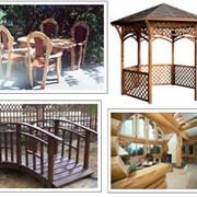 Изготовление деревянных конструкций по индивидуальным эскизам фото