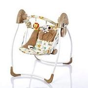 Кресло-качели Bambi электрические: 4 скорости, 12 мелодий, игрушки фото