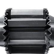 Поклейка шевронов и волнистых бортов на конвейерную ленту фото