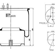Пневмподушка DAF CF 75/85, 95 XF задняя - 5002-03-0162P (Conti 889MK2) фото