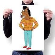 Плакат Конь БоДжек, BoJack Horseman №1 фото