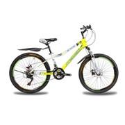 Яркий,стальной велосипед Rover24Disc13RS35 бел-жл фото