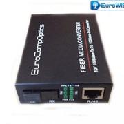 Медиаконвертер EuroCompOptics 100Mbps,20km,SC,1550nm фото