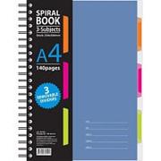 Бизнес-тетрадь 140л,кл,А4,SPIRAL BOOK Синий,евроспир,обл.пласт,раздел.84101 фото