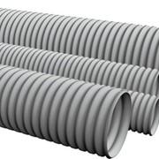 Труба поливинилхлоридная ПВХ 50х5.2 мм гофрированная легкая фото