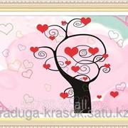 Картина стразами в 3Д Дерево любви 40х50 см фото