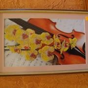Картина вышита бисером на авторском холсте. фото