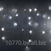 Гирлянда Айсикл (бахрома) светодиодный, 2,4 х 0,6 м, белый провод, 220В, диоды белые фото