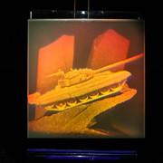 Сувенир голографический с подсветкой настольный Т-72 фото