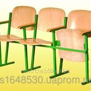 Кресло для актового зала, 3-местное, 1550х520х830 мм гнуто-клееная фанера., 0246 фото