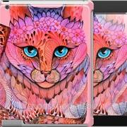 Чехол на iPad 2/3/4 Узорчатая кошка 2822c-25 фото