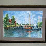 Картина, написанная пастелью, копия фото