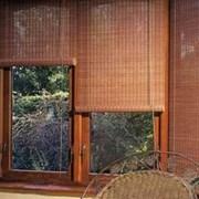 Ролеты из бамбука и джута фото