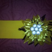 Повязка для волос Желтый цветок фото