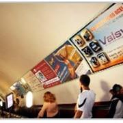 Реклама в метро на эскалаторных сводах фото