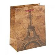 "Пакет крафт ""Символ Парижа"" 18см х 23см фото"
