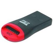 Считыватель карт памяти картридер usb 2.0 Orient CR-012 TF-microSD, шнур для брелка фото