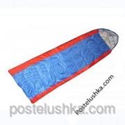 Спальный мешок SY-069 Кокон PL, хлопок, 400г/м2, р-р 190+30*75см, сине-красный фото