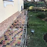 Укладка тротуарной плитки в Севастополе фото