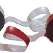 Светоотражающая лента красно-серебристая фото