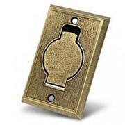 Пневморозетка настенная (металлическая, цвета: бронза, хром, латунь) фото