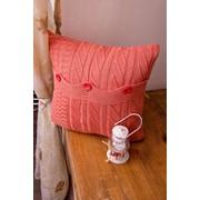 Подушка вязаная декоротивная фото